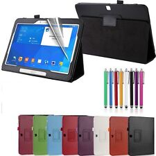 NUOVO Cuoio Smart Cover Custodia per Samsung Galaxy Tab 4 10.1 Pollici T530 / T535 Tablet