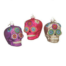 NEW Midwest-CBK Day of the Dead Skull Glass Ornament - Pick a Color!