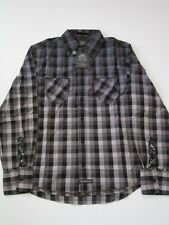 Guest Plaid Fade Black Navy English Laundry LS SHIRT LONGSLEEVE MENS BUTTON UP