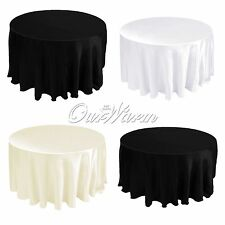 "20 Satin Table Cloths Cover Round 90"" 228cm Diameter Wedding Party Supply Colors"