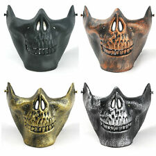 New Human Skull Jaw Face Mask Realistic Halloween Skeleton Fancy Dress Plastic
