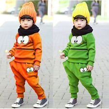 2Pcs Baby Toddler Kids SportsWear Tracksuit Top+Pants Outfit Fall Winter