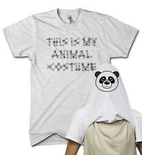 This Is My Animal Costume Panda Face Flip T Shirt Funny Fancy Dress Up