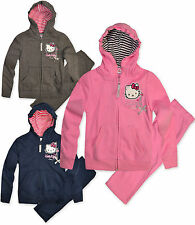 Girls Hello Kitty Tracksuit Set Kids Hoodie Jogging Bottoms New Age 3 - 8 Years