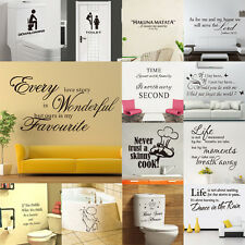 DIY Quote Art Removable Decal Mural Decor Vinyl Quote Home Room Wall Sticker