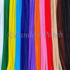 """Chenille Craft Stems Pipe Cleaners 12"""" 30cm 25 50 100pk"""