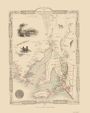 AUSTRALIA SOUTH PART BY J & F TALLIS 1851