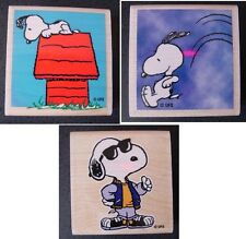 Peanuts Snoopy rubber stamps Joe Cool / house / jumping -- FREE SHIP !