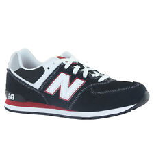 New Balance KL 574 Classics Traditionnels Black White Youth Trainers