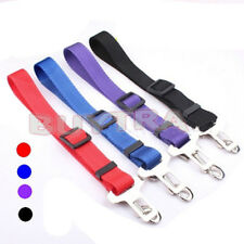LO Cat Dog Pet Safety Seatbelt Car Vehicle Seat Belt Adjustable Harness Lead UK2