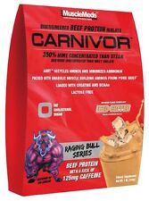MuscleMeds CARNIVOR Beef Protein Isolate Creatine BCAAs 1 lb  2 FLAVORS