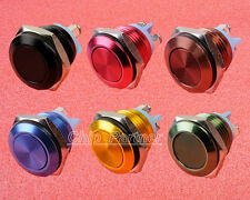 16mm Start Horn Button Momentary Stainless Steel Metal Push Switch 6 Colors