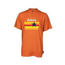 Houston Astros Majestic Cooperstown 2 Button MLB Jersey Shirt New M186A