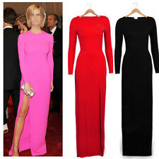 Fashion Celeb Sexy Women Long Sleeve Slim Bodycon Party Cocktail Evening Dress