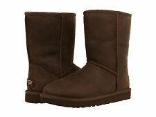 Ugg Australia Classic Short Brownstone Water Resist. Leather 1005093 Women Boot
