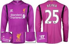 *14 / 15 - WARRIOR ; LIVERPOOL HOME GK SHIRT LS / REINA 25 = SIZE*