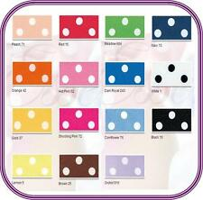 Polka Dot Berisfords Spotted Satin Ribbon Choose Colour, Length and Width