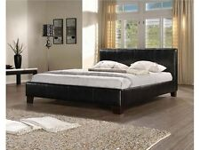 LEATHER BED-DOUBLE KING-BLACK-BROWN-WHITE REFLEX MEMORY  FOAM MATTRESS