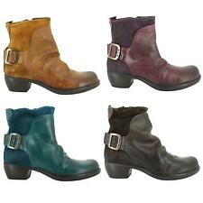 Fly London MEL Womens Zip Leather Biker Style Ankle Boots Shoes Sizes UK 4 - 8