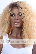 Heat Safe Big Curly Lace Front Wig Swiss Lace Natural Part FAST SHIPPING!!!