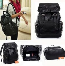 Stylish Women's Men's *Soft Pu Leather Casual Shoulders Bookbag Satchel New