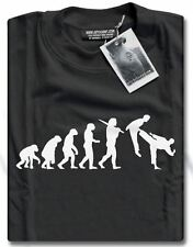 NEW Evolution of Martial Arts Judo Karate Taekwondo Kung Fu Mens T-Shirt