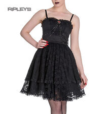 HELL BUNNY Black Mini Dress ZYLPHIA Steampunk Goth Lace All Sizes