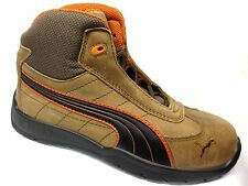 Puma Motorsport Safety/Steel Toe HiTop Work Shoes Mens Brown