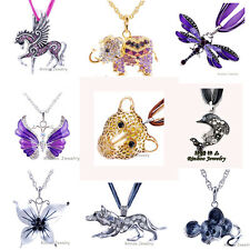 Top MEN WOMEN Fashion Butterfly Elephant Pegasus Pendant Necklace Inlay Crystal