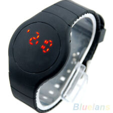 Unique Cool Sport Touch LED Digital Round Dial Ultra-thin Bracelet Wrist Watch