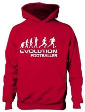 Evolution Of Football School Sport Girls Boys Hoodie Hoody Gift Age 5-13 Years