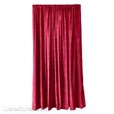 Elegant Burgundy Custom Made Home Theater Velvet Drapes 6 ft Curtain Long Panel