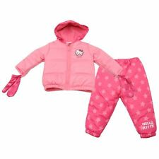 BABY GIRL CUTE HELLO KITTY 3 PIECE WINTER SNOWSUIT PRAM SUIT AGES 0-24 MONTHS