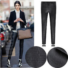 Autumn Faux Leather Snake Skin Imitation Loose Trousers Pants Leggings Big Size