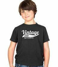 Vintage 2010 4th Birthday Childs Present Party Gift Kids Boys & Girls T-Shirt