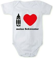 """Romper baby bodysuit """"I love my sister"""" In different languages + free bib"""