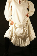 Steampunk-Victorian-Edwardian-Cosplay-Larp-FRILLED PETTICOAT All sizes Sml-Plus