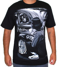 DGA Men's Reflections T Shirt Black   gangster mexican latino chicano