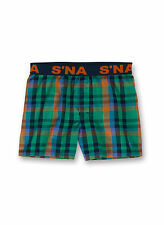 Sanetta S ' Na Boys Webshort Boxer Shorts Woven Shorts Checked - Green