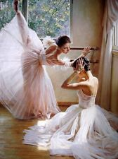 Oil painting HD Print Two ballet dancers Picture on canvas L059