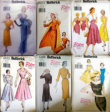 Pattern Butterick Retro 1950-60s Vintage Historical Dress Coat OOP £3.99-8.99