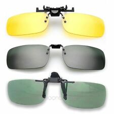 Polarized Clip-on Flip-up Lens Day Night Vision Sunglasses Driving Glasses S, L