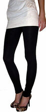 EXTRA LONG Leggings Viscose Elastane BLACK SIZES 8 - 24 ___  210 gsm