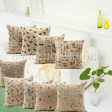 Vintage Retro Chic Linen Cushion Cover Soft Bed Throw Pillow Case Home Decor