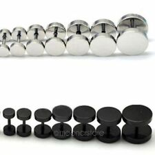 New A Pair 2Pcs Punk Gothic Mens Barbell Stainless Steel Ear Studs Earrings BD4A