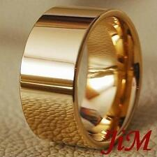 Mens Tungsten Carbide Ring 14K Wedding Band Bridal Jewelry Size 6-15
