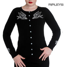 HELL BUNNY Ladies SKELEBIRD Cardigan/Top Black Goth/Halloween All Sizes