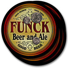 Funck Beer and Ale Coasters - 4pak - Great Gift