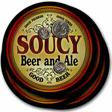 Soucy Beer and Ale Coasters - 4pak - Great Gift