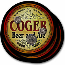 Coger Beer and Ale Coasters - 4pak - Great Gift